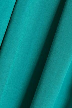 VANESSA SEWARD Belted pleated woven skirt