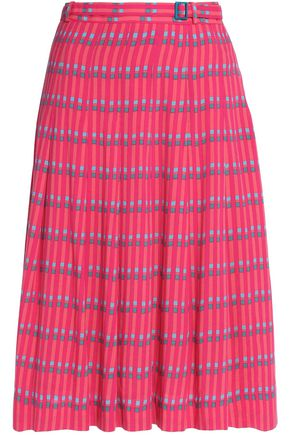 VANESSA SEWARD Pleated printed crepe skirt
