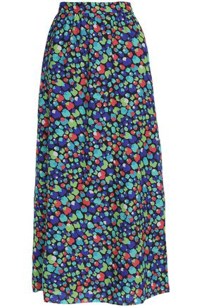 VANESSA SEWARD Printed wool and silk-blend maxi skirt