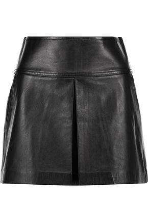 T by ALEXANDER WANG Pleated leather skirt