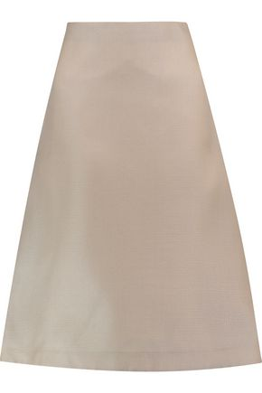 MARNI Textured-silk midi skirt