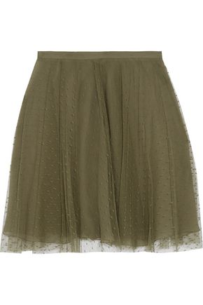 REDValentino Pleated point d'esprit mini skirt