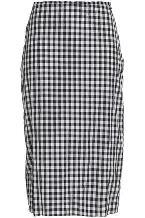 MARQUES ' ALMEIDA Gingham seersucker skirt