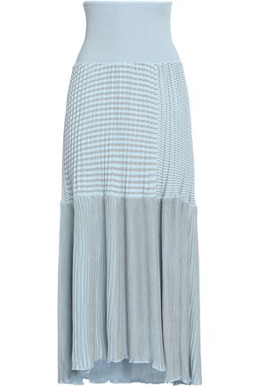 SONIA RYKIEL Paneled ribbed cotton-blend maxi skirt