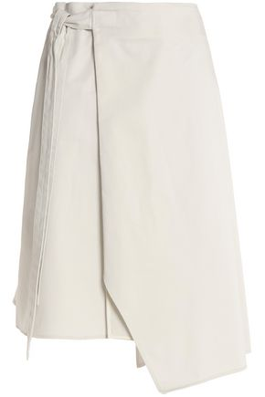 ACNE STUDIOS Asymmetric cotton wrap skirt