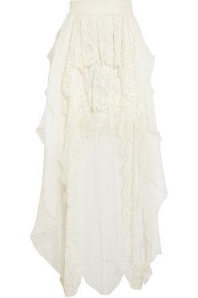 SOPHIA KOKOSALAKI Pandasia ruffled silk-chiffon skirt