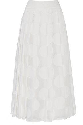 ALICE + OLIVIA Calista fil coupé midi skirt