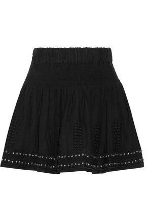 ISABEL MARANT ÉTOILE Alea embellished cotton-blend gauze mini skirt