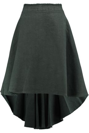 J.W.ANDERSON Frayed cotton-canvas skirt