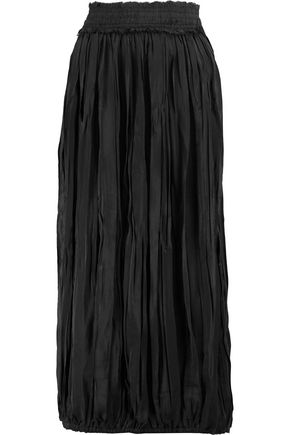 J.W.ANDERSON Pleated crepe midi skirt