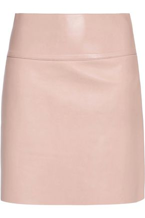 AGNONA Leather mini skirt