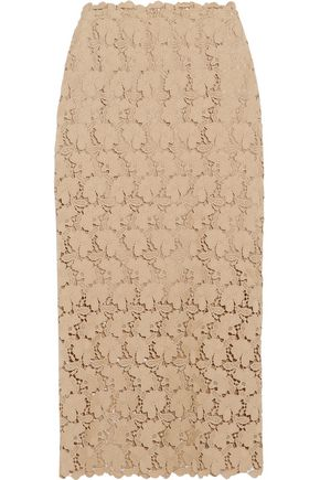 ROBERT RODRIGUEZ Embroidered lace midi skirt