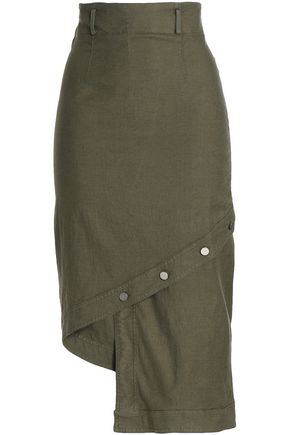 ROBERT RODRIGUEZ Asymmetric linen-blend skirt