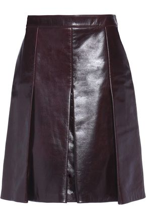 BELSTAFF Barton pleated leather skirt
