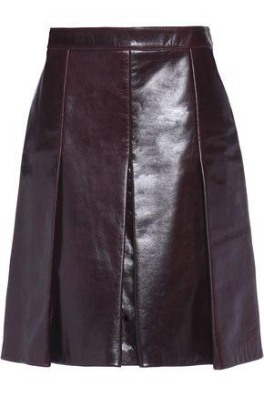 BELSTAFF Barton pleated leather skirt