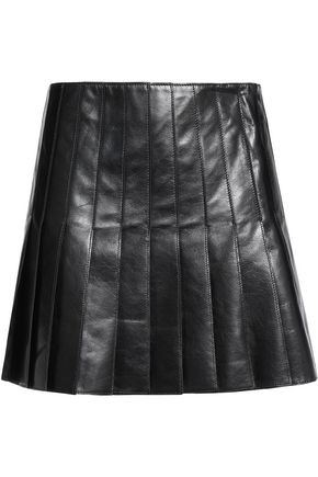 BELSTAFF Holborne pleated leather mini skirt