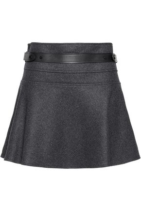 BELSTAFF Aldford brushed wool and angora-blend mini skirt