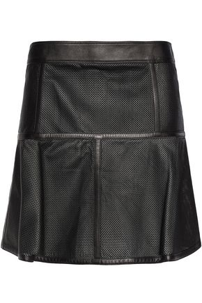 BELSTAFF Brompton perforated leather mini skirt