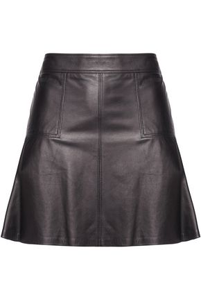BELSTAFF Lochdon leather mini skirt