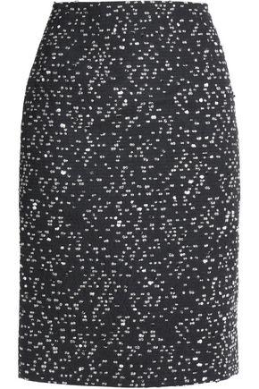 OSCAR DE LA RENTA Marled bouclé skirt
