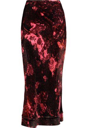 ELLERY Tammy Gun printed velvet midi skirt
