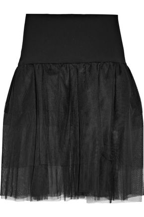 OSMAN Pleated tulle skirt