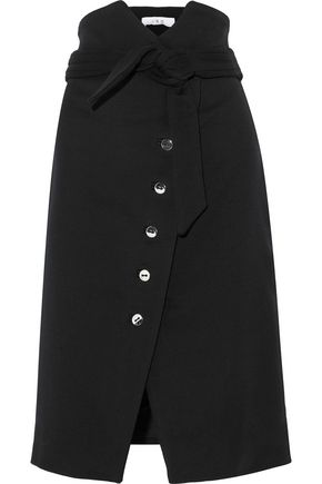 IRO Maddy button-detailed wool-blend twill skirt