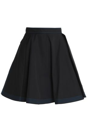 MSGM Pleated cotton mini skirt