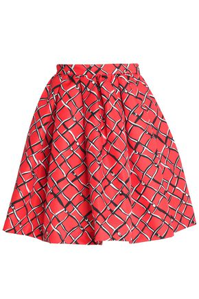 MSGM Printed twill mini skirt