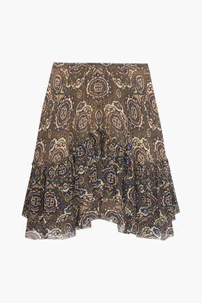 CHLOÉ Printed silk-chiffon skirt