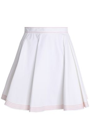MSGM Pleated cotton mini skirt