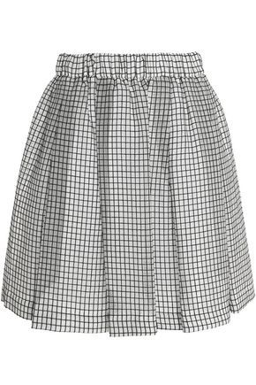 MSGM Jacquard cotton-blend skirt