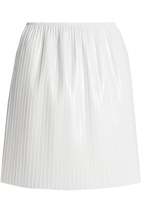 MSGM Pleated faux leather mini skirt