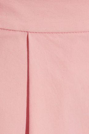 ALICE + OLIVIA Pleated cotton skirt
