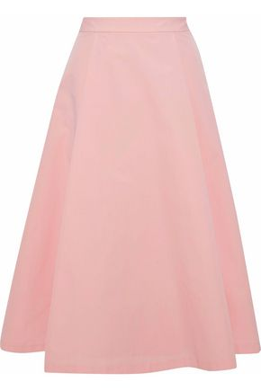 ALICE+OLIVIA Pleated cotton skirt