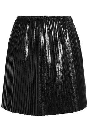 MSGM Pleated faux leather mini skirt
