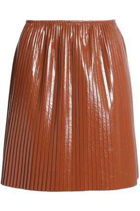 MSGM Pleated coated cady mini skirt
