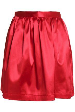 MSGM Pleated satin mini skirt