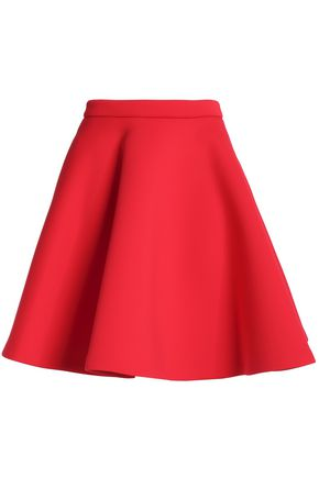 MSGM Flared neoprene mini skirt
