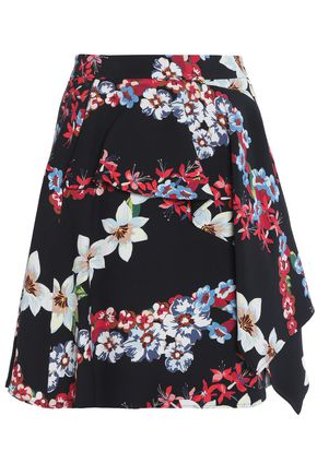 MSGM Layered printed crepe mini skirt