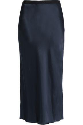 HELMUT LANG Satin-crepe midi skirt