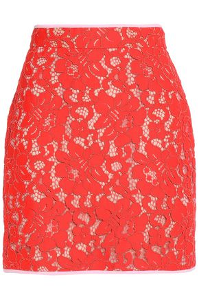 MSGM Guipure lace mini skirt