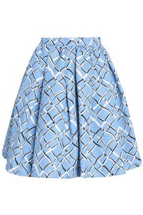 MSGM Flared printed twill mini skirt