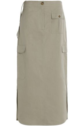 HELMUT LANG Cotton and silk-blend maxi skirt