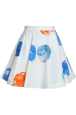 MSGM Printed cotton-poplin mini skirt