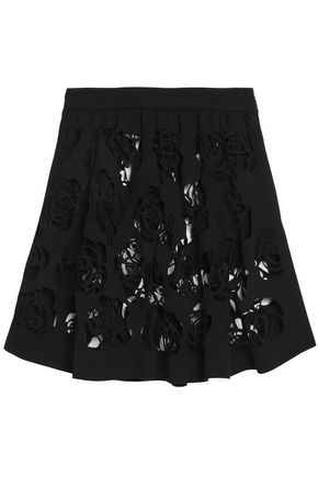 MSGM Laser-cut mini skirt