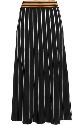 ROKSANDA Striped knitted midi skirt