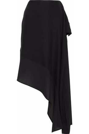 ACNE STUDIOS Asymmetric ruffled silk midi skirt