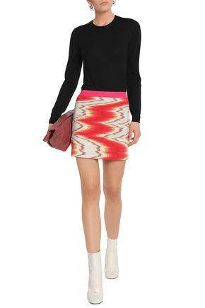 MISSONI Intarsia wool-blend mini skirt