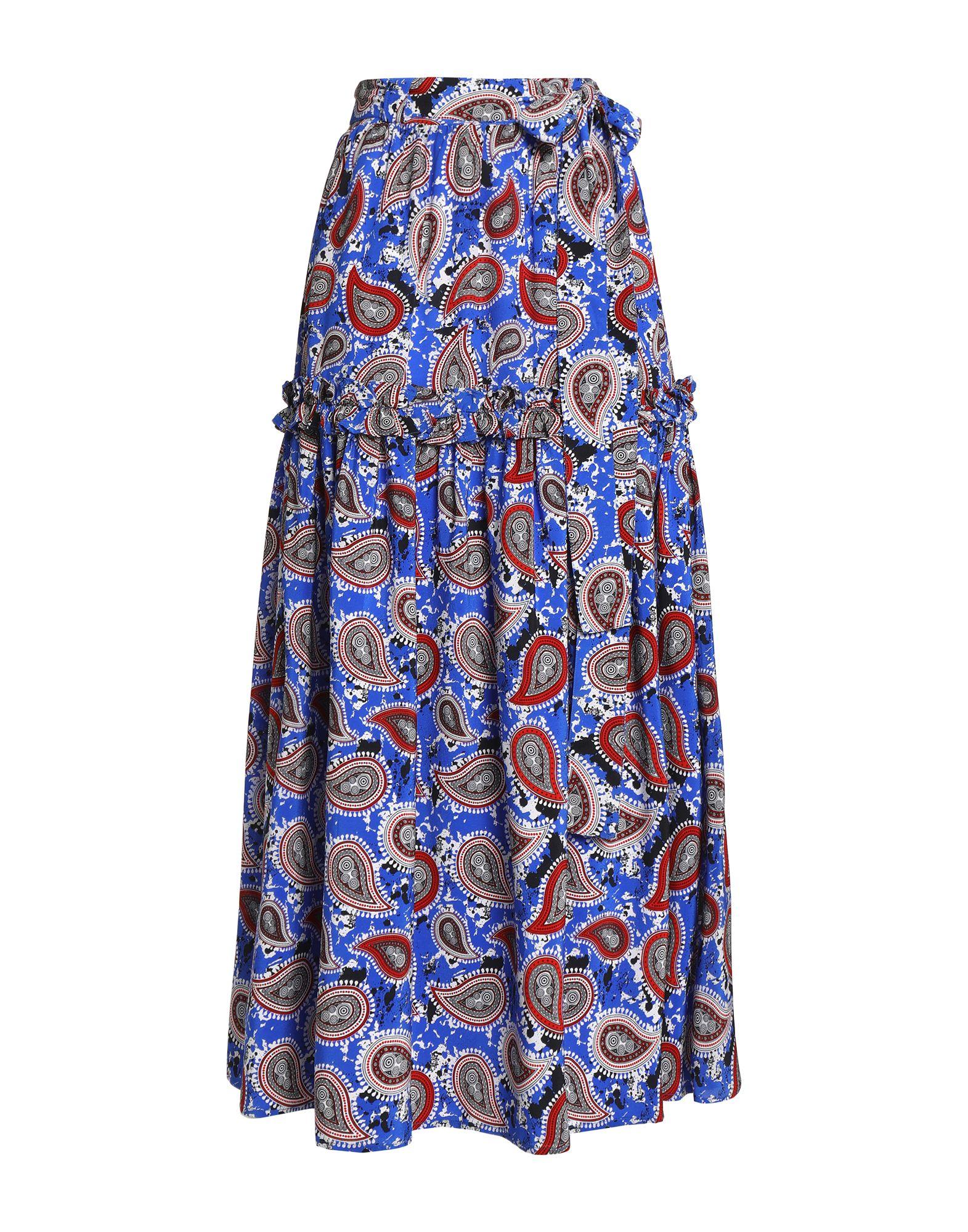《セール開催中》DODO BAR OR レディース ロングスカート ブルー 40 シルク 100%